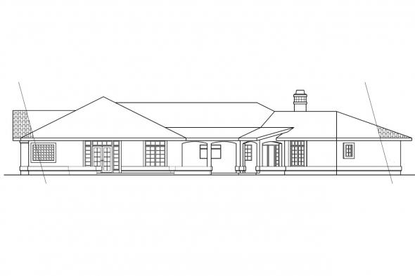View Lot House Plan - Grenada 11-043 - Rear Elevation