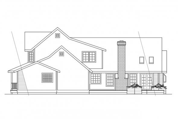 View Lot House Plan - Heartstone 10-200 - Rear Elevation