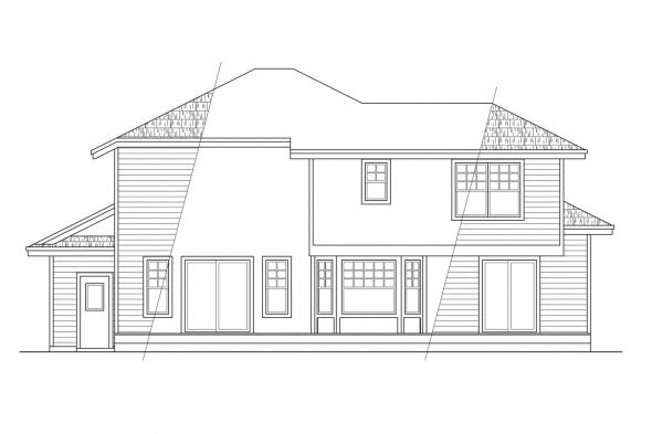 View Lot House Plan - Maplewood 10-129 - Rear Elevation