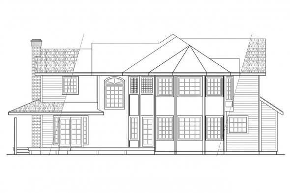 View Lot House Plan - Melville 10-096 - Rear Elevation