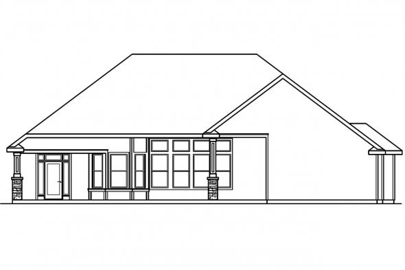 View Lot House Plan - Rosemont 30-376 - Rear Elevation