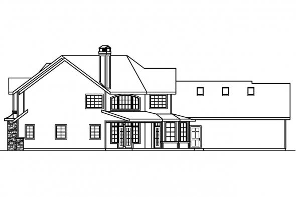 View Lot House Plan - Rutherford 30-411 - Rear Elevation
