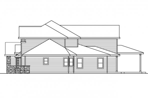 View Lot House Plan - Westchase 30-624 - Right Elevation