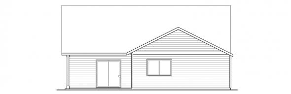Caspian - 30-868 - Cottage Home Plans - Rear Elevation