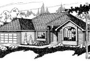 Stayton - 10-040 - Traditional Home Plans - Front Elevation