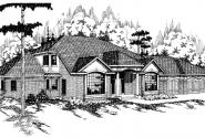 Heritage - 10-044 - Tudor Home Plans - Front Elevation