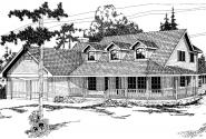 Heartland - 10-060 - Country Home Plans - Front Elevation