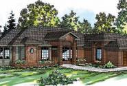 Jamison - 10-081 - Ranch Home Plans - Front Elevation