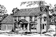 Westport - 10-155 - Colonial Home Plans - Front Elevation