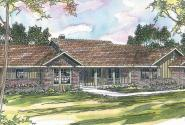 Burlington - 10-255 - Ranch Home Plans - Front Elevation