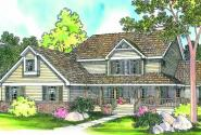 Clayton - 10-292 - Country Home Plans - Front Elevation