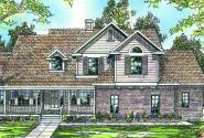 Heartwood - 10-300 - Country Home Plans - Front Elevation