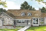 Cameron - 10-338 - Ranch Home Plans - Front Elevation