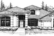 Rochester - 10-353 - Mediterranean Home Plans - Front Elevation