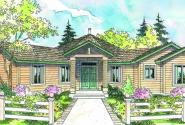 Forsythia - 10-426 - Hexagonal Home Plans - Front Elevation