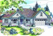 Springheart - 10-530 - Country Home Plans - Front Elevation
