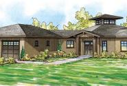 Flora Vista - 10-546 - Mediterranean Home Plans - Front Elevation