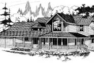 Auburn - 10-046 - Country Home Plans - Front Elevation