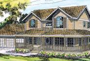 Morgan - 10-059 - Country Home Plans - Front Elevation