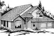 Geneva - 10-067 - Traditional Home Plans - Front Elevation