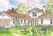 Grandeza - 10-136 - Hexagonal Home Plan - Front Elevation