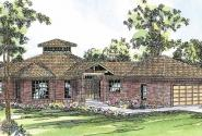 Palmyra - 10-169 - Contemporary Home Plans - Front Elevation