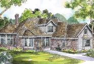 Blueridge - 10-205 - Contemporary Home Plans - Front Elevation