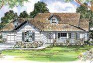 Binghamton - 10-259 - Country Home Plans - Front Elevation