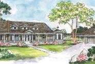 Greenbriar - 10-401 - Country Home Plans - Front Elevation
