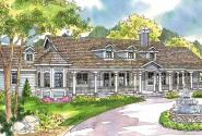 Louisville - 10-431 - Country Home Plans - Front Elevation