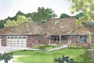 Heartshaven - 10-525 - Prairie Home Plans - Front Elevation