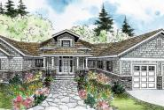 Heartcrest - 10-526 - Hexagonal Home Plans - Front Elevation