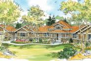 Crestview - 10-532 - Hexagonal Home Plans - Front Elevation