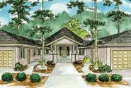 Sonora - 10-533 - Hexagonal Home Plans - Front Elevation