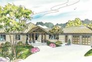 Willow Creek - 10-542 - Hexagonal Home Plans - Front Elevation