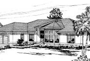 Bryant - 11-024 - Mediterranean Home Plans - Front Elevation