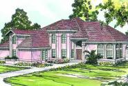 Stanfield - 11-084 - Spanish Home Plans - Front Elevation