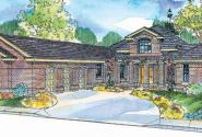 Beckwith - 11-128 - Hexagonal Home Plans - Front Elevation
