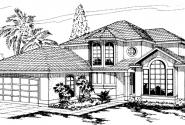 Sequoia - 11-013 - Mediterranean Home Plans - Front Elevation