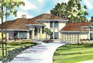 St. Petersburg - 11-071 - Mediterranean Home Plans - Front Elevation