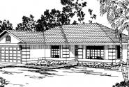 Verona - 11-074 - Southwestern Home Plans - Front Elevation