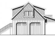 2 car Garage w/Loft - 20-077 - Garage Plans - Front Elevation