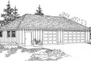 Garage w/Shop & Storage - 20-050 - Garage Plans - Front Elevation
