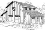 Barn - 20-059 - Garage Plans - Front Elevation