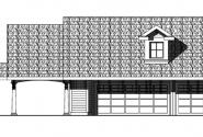Garage w/Attic - 20-074 - Garage Plans - Front Elevation