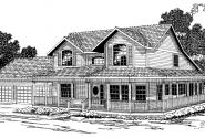 Shelburn - 30-035 - Country Home Plans - Front Elevation