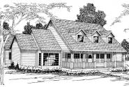 Wyndmere - 30-038 - Country Home Plans - Front Elevation