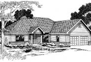 Marcus - 30-039 - Traditional Home Plans - Front Elevation