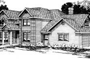 Willmar - 30-048 - Colonial Home Plans - Front Elevation