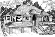 Lenox - 30-066 - Contemporary Home Plans - Front Elevation